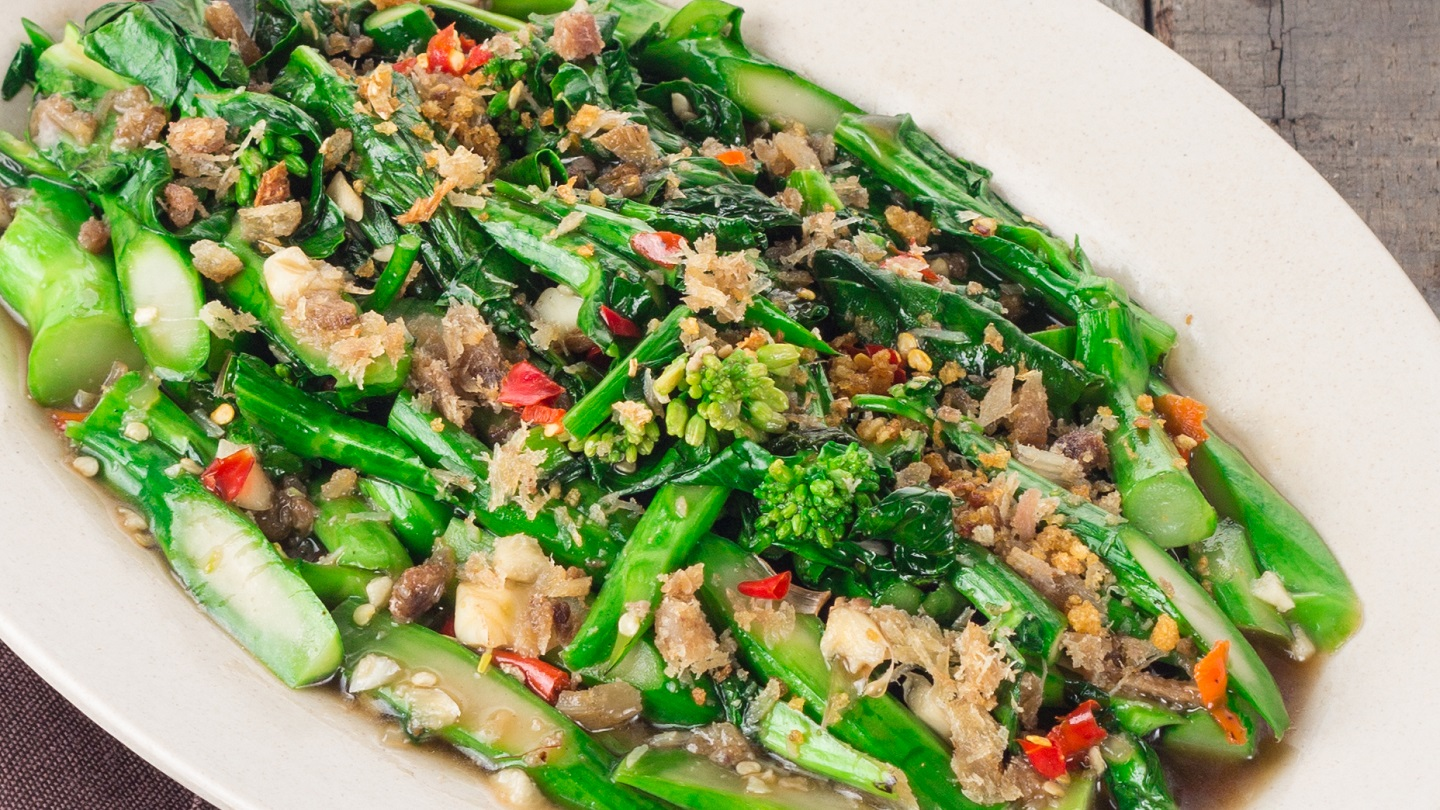 Stir Fried Hong Kong Kailan with Salted Fish - L image