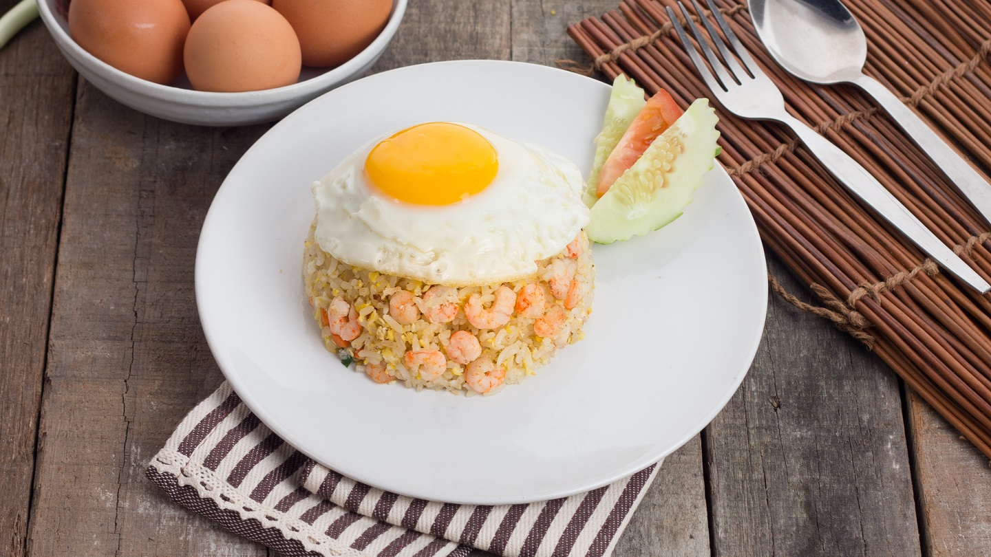 Egg Fried Rice with Prawns image