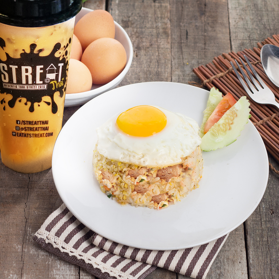 Egg Fried Rice Chicken and Egg image